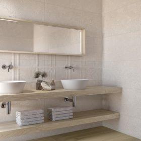 Porto Petro Wall Tiles in a bathroom setting.