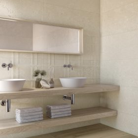 Porto Petro Wall Tiles in a bathroom setting.